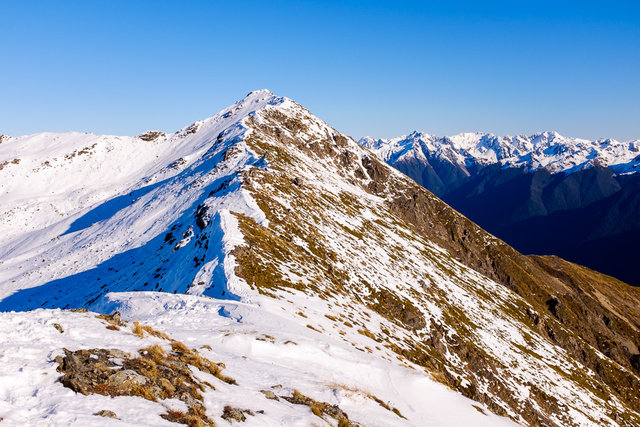 Out of the breath on the top of St Arnaud Range