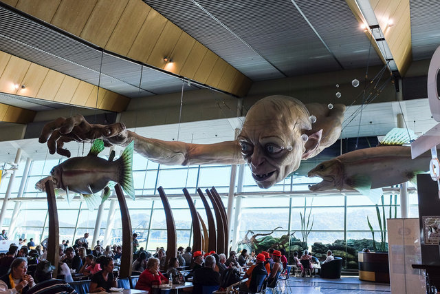 Gollum said goodbye to us at Wellington airport