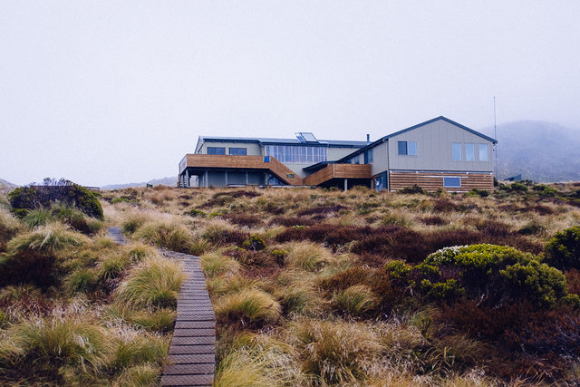 The Luxmore Hut - our first night destination