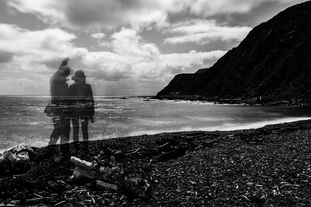 Two ghosts at the Makara beach