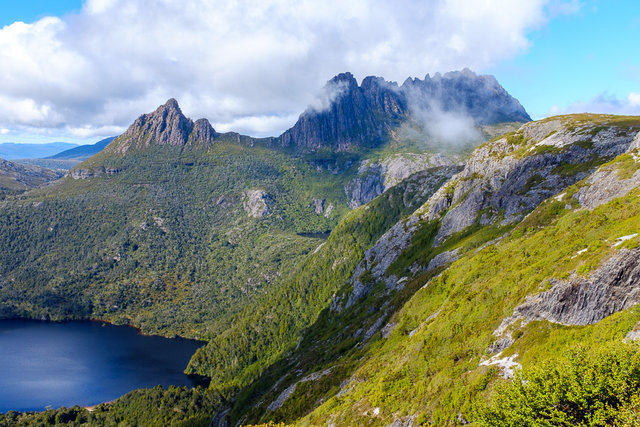 The goal for today -- the Cradle Mountain Summit