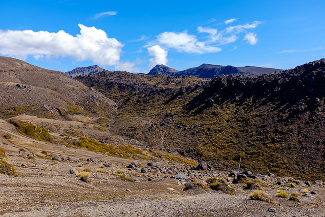 A desert landscape on the way to Oturere Hut