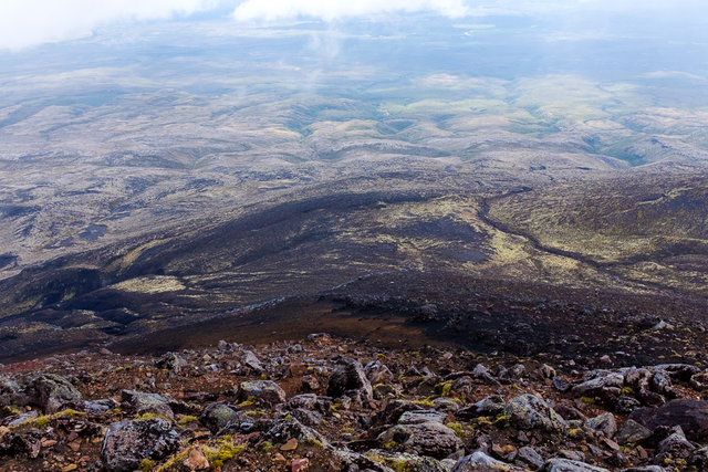View from Tongariro Summit