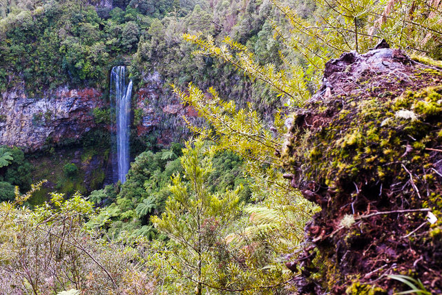 Tupapakurua waterfall falling into the deepest deep of the deep valley
