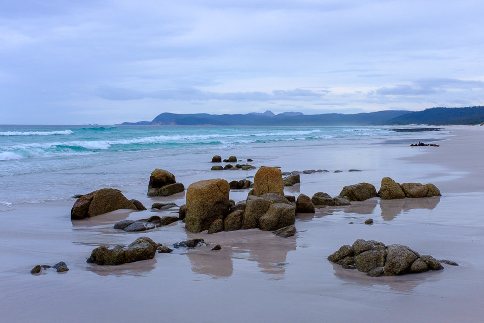 Tasmania: golden beaches of Freycinet Peninsula